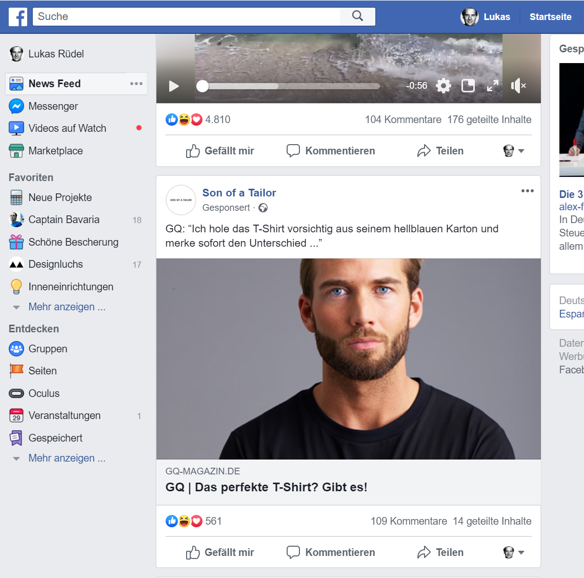 Facebook Beispiel Anzeige